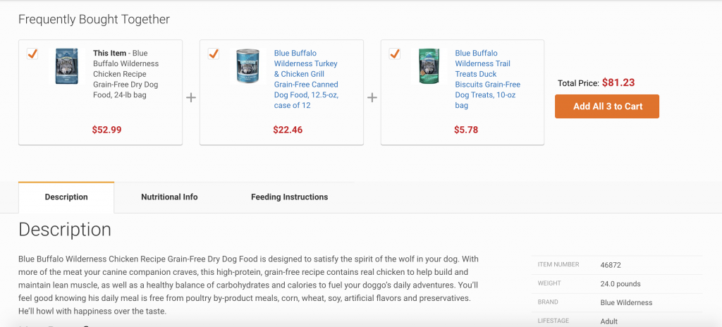 Chewey Product Page Middle