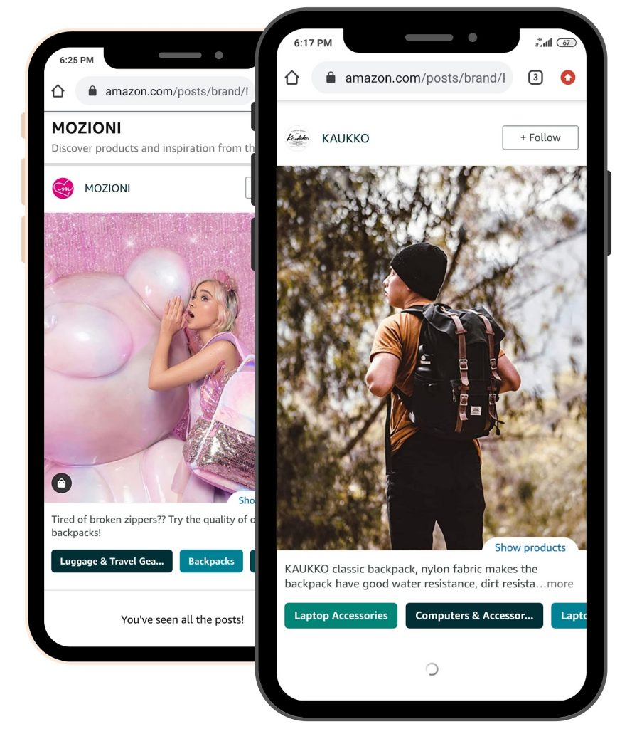 amazon posts examples