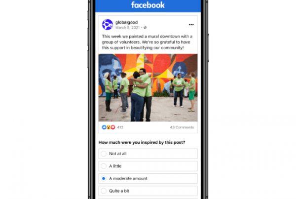 facebook algorithm test