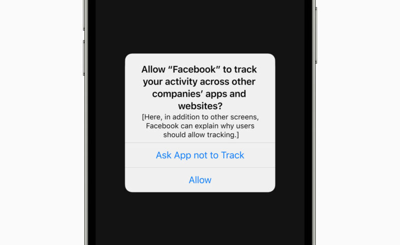 allow facebook to track data ios update