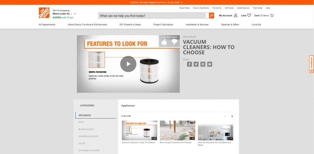 homedepot how to content
